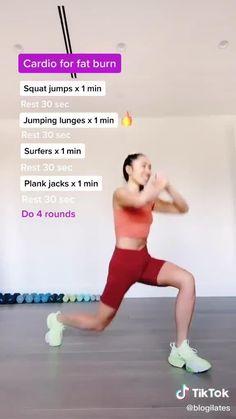 Fat Burning Cardio Pilates Workout!