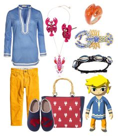 """Onset Island Toon Link from The Legend of Zelda: The Wind Waker"" by vicipokemon ❤ liked on Polyvore featuring H&M, Tory Burch, Betsey Johnson, Magid, Nach, L.L.Bean and Venessa Arizaga"