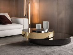 Living Room Inspiration: A contemporary living room styled with a Benson coffee table, designed by Rodolfo Dordoni for Minotti. Contemporary Coffee Table, Modern Coffee Tables, Contemporary Furniture, Luxury Furniture, Furniture Design, Low Coffee Table, Coffee Table Design, Center Table, Modern Interior Design