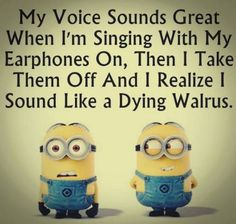 I'm not so bad with my singing, thanks ...    :)