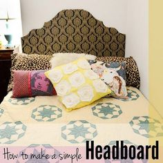 DIY Dorm Room Decor Ideas - Simple Headboard - Cheap DIY Dorm Decor Projects for College Rooms - Cool Crafts, Wall Art, Easy Organization for Girls - Fun DYI Tutorials for Teens and College Students http://diyprojectsforteens.com/diy-dorm-room-decor
