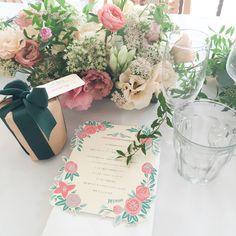 Die cut wedding menu ダイカットウエディングメニュー