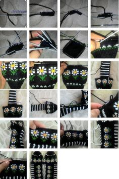 Fünf Shish Daisy Booties machen Knitting Clothing For Women Crochet Baby Socks, Crochet Mittens Pattern, Crochet Slipper Pattern, Crochet Slippers, Baby Knitting Patterns, Diy Crafts Knitting, Diy Crafts Crochet, Beginning Crochet, Tunisian Crochet