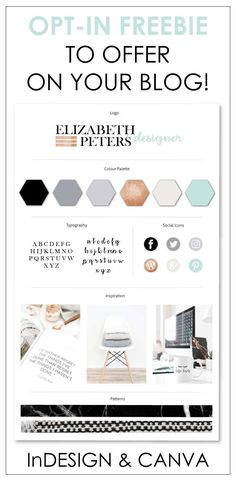 Get this amazing Brand Board to offer as offer as an Opt-freebie or Content Upgrade on your blog or website.  Available as both an Adobe Indesign and Canva Template with full instructions. #brandboard