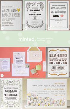 minted letterpress invites