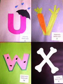 """Last year my students made their own Alphabet Books. Each time we had a new """"Letter of the Week,"""" they put together a new page with glue, c..."""