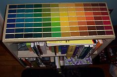 Paint Swatch Mosaic-maybe for craft shelf