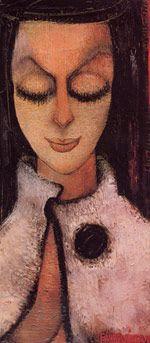 Portrait for Iris Clert Princess Fahrelnissa Zeid 1965 Abstract Painters, Abstract Art, Turkish Art, Art Database, Face Art, African Art, Figurative Art, Illustration, Sculptures
