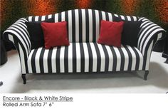 Striped couch idea 3 - the shape and thickness of stripes is great.