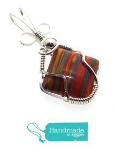 Rainbow Calsilica Gemstone Sterling Silver Wire Wrapped Pendant from Angelleesa Designs https://www.amazon.co.uk/dp/B01LZ0DTV2/ref=hnd_sw_r_pi_dp_8uM7xb2Z3ZFST #handmadeatamazon