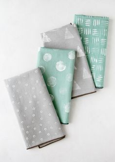 4 stamped napkin DIYs using stuff you already have around the house