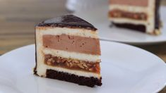 Amazing snickers mousse cake that any snickers fan going to love! This mousse cake is so gentle, decadent and super delicious. Layers of chocolate sponge cak. Chocolate Mirror Glaze, Mirror Glaze Cake, Chocolate Sponge Cake, White Chocolate Mousse, Honey Cake, Mousse Cake, Food Cakes, How To Make Cake, Cake Recipes