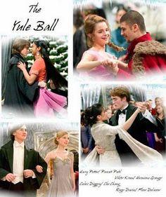 The Yule Ball    Harry Potter  Parvati Patil  Viktor Krum  Hermione Granger  Cedric Diggory  Cho Chang  Roger Davies  Fleur Delacour
