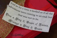 Narnia Birthday Party parting gift