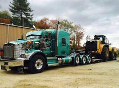 Semitrckn — Kenworth custom T800 heavy haul