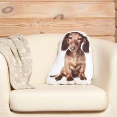 Dachshund Dog Pillow – Realistic Wiener Dog, Pet Lover Gift, Whimsical Cushion Dachshund Gifts, Dachshund Dog, Animal Cushions, Closer To Nature, Gifts For Pet Lovers, Woodland Nursery, Natural Linen, Dog Pillows, Puppies