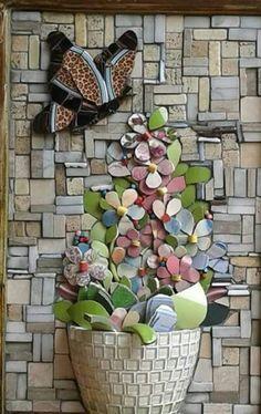DIY Quadros - Mosaico Picassiette - Arte Sustentável | ART DIY