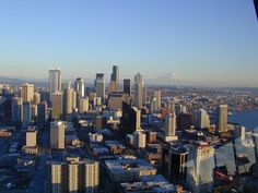 View of Seattle from atop the Space Needle place