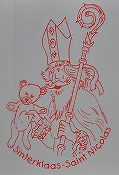Dessin Saint Nicolas (sur enveloppe)