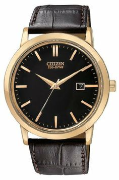 Citizen Men's BM7193-07E Eco-Drive Rose Gold Tone Date Watch Citizen. $176.25. Eco-drive, fueled by light. Rose gold tone case with dark brown leather strap. Curved mineral glass crystal. Water-resistant to 30 M (99 feet). Date. Save 25%!