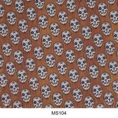 Hydrographics film skull pattern MS104