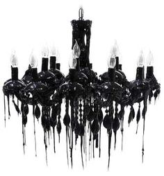 Hot Kroon Black Chandelier from The French Bedroom Company. Saved to My Fun. Shop more products from The French Bedroom Company on Wanelo. Gothic Chandelier, Chandelier Bedroom, Chandelier Ceiling Lights, Black Chandelier, Halloween Chandelier, Black Candelabra, Unique Chandelier, Halloween Lighting, Murano Chandelier