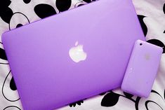 Purple laptop and phone!