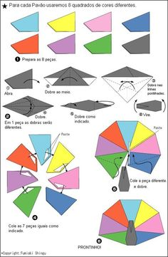 Origami Modular Peacock