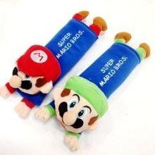 Mario & luigi per i bambini cintura di sicurezza del sedile peluche harness  Spallina cuscino seggiolino auto copertura della cinghia 2 pz un  Coppia(China (Mainland))
