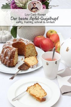mandeln Apple Gugelhupf recipe - juicy and fruity Delicious Cookie Recipes, Yummy Cookies, Cake Recipes, Cookie Cutter House, Short Bread, Sweet Bakery, Coconut Flour, Low Carb Recipes, Good Food