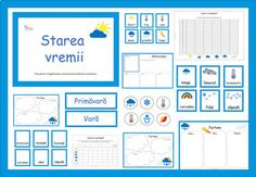Weather Activities in Romanian, Starea vremii. by Ema La Scoala Social Studies Activities, Science Resources, Science Books, Science Activities, Teacher Resources, Weather Worksheets, Weather Activities, Stem For Kids, Science For Kids