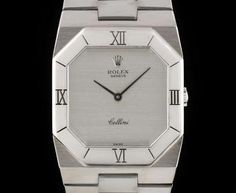 Rolex Vintage Cellini Gents 18k White Gold Silver Dial 4350 Rolex Cellini, Vintage Rolex, Black Opal, Avengers, Clock, White Gold, Watches, Silver, Watch