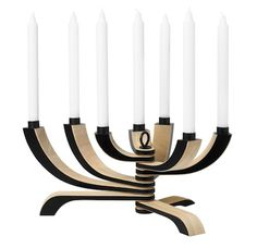 Nordic candelabra also available in red, white, black