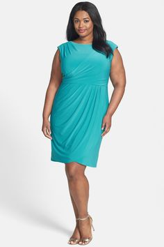 Adrianna Papell Sleeveless Matte Jersey Sheath Dress (Plus Size) by Adrianna Papell on @nordstrom_rack
