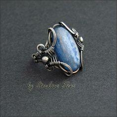 перстень с кианитом, Strukova Elena - авторские украшения