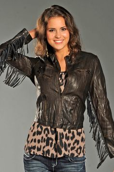 Fashion Bargain! On sale while supplies last! Rock and Roll Cowgirl Women's Fringe Brown Jacket