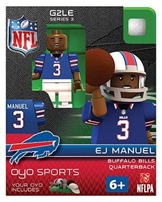 Ej Manuel Oyo Buffalo Bills Nfl Football Mini Figure Lego Compatible G2