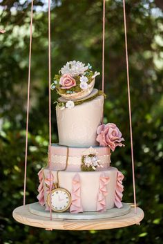 Whimsical Alice in Wonderland theme wedding cake | Sweet Traders