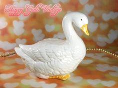 Goose Figurine, Large Goose Figurine by Enesco, Vintage Goose Figurine, Porcelain Goose, White Ceramic Goose, Large Vintage Goose Gift