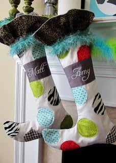 Free pattern day!  Christmas stockings
