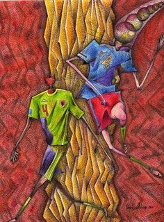 "Saatchi Online Artist daniel levy; Painting, ""espanish football"" #art"