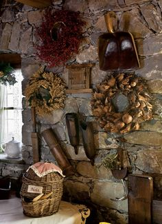Earth Wall -- want I want my wine cellar walls to be & the wall where my kitchen's fire stove is w/a 5 by 4 centered window mwahaha! In Italy on my 5 acres of land with my vineyard and vegetable garden with pigs and chickens!