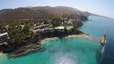 Areal views of the White Rocks Hotel & Bungalows #kefalonia #Greece
