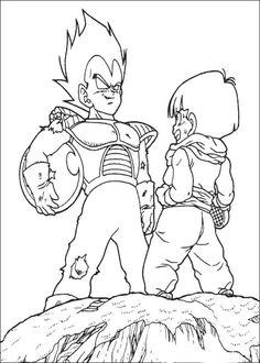 Dragon Ball Z Ausmalbilder. Malvorlagen Zeichnung druckbare nº 98