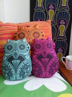 OWL~hoot pillows