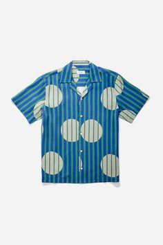 The Canty Striped Polka Shirt is a short sleeve camp-collared shirt featuring our Striped Polka Dot print and made from smooth Tencel. Polka Dot Shorts, Polka Dots, Classy Outfits, Casual Outfits, Safari Shirt, Sewing Alterations, Saturdays Nyc, Denim Shirt, Shirt Men