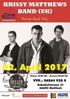#De #Keller  Blueswoche #im #De #Keller #Mettlach #praesentiert #von #Saarblues eV. 02. #April Krissy ... Blueswoche #im #De #Keller #Mettlach #praesentiert #von #Saarblues eV. 02. #April Krissy #Matthews & #Band Gitarrist #der legendaeren #Hamburg #Blues #Band #Konzert 18:00 #Uhr  / #Es #sind #noch #Karten #an #der Abendkasse #erhaeltlich 06. #April Dani #Wilde & #Band Gewinnerin #des #British #Blues #Award - #Best Vocals 2015  #Konzert 20:00 #Uhr / #Eintritt #frei http://sa