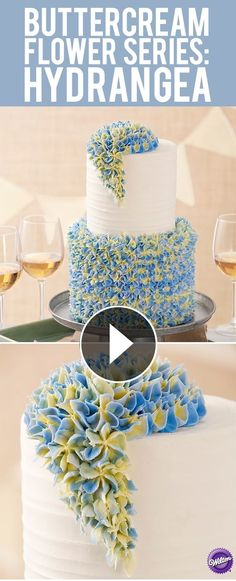 Learn how-to make the hydrangea flower in buttercream. A buttercream flower is always in style and adds beauty to any cake or cupcake by lina