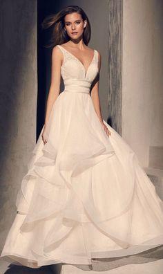 Courtesy of Mikaella Wedding Dresses #weddingdress