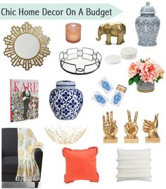 Chic and affordable home decor for decorating on a budget (Diy Home Decor Renting) Cheap Home Decor Online, Inexpensive Home Decor, Shabby Chic Interiors, Shabby Chic Decor, Trendy Home Decor, Diy Home Decor, Boho Home, Do It Yourself Home, Decorating On A Budget